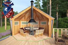 Grill Hut, Fire Pit Grill, Bbq Grill, Backyard Pavilion, Backyard Patio, Outdoor Spaces, Outdoor Living, Bbq Shed, Gazebo