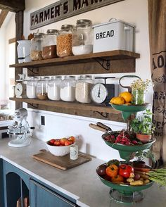 Shelving in kitchen. See this Instagram photo by @birdie_farm • 3,991 likes