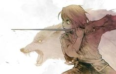 Arya Stark & Nymeria - Stick 'em with the pointy end. Game of thrones fanart