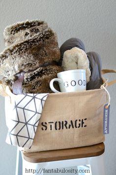 """Take it Easy,"" Relaxation Gift Basket Idea http://fantabulosity.com"