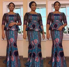 Eye-popping Ankara Skirt & Blouse styles for women fashion. Beautiful women stun in Ankara Skirt & Blouse (Ankara fabric)-See designs.