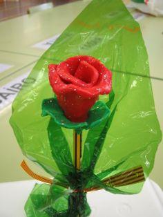 Rosa de plastilina