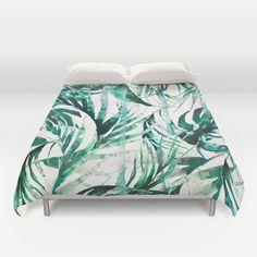 """Green Tropical paradise"" Duvet Cover by Nikkistrange on Society6."