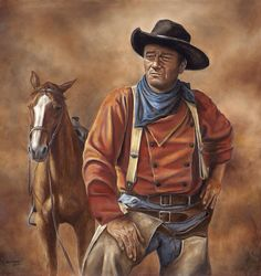 Full Square DIY Diamond Painting Cowboy John Wayne portrait Home Decorative Diamond Embroidery diamond mosaic Cross Stitch. Westerns, Western Art, Western Cowboy, Western Film, He Man Tattoo, John Wayne Movies, The Lone Ranger, Cowboy Art, Cowboy Pics