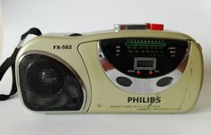 Buy Vintage Radio cassette recorder player Philips with alarm clock for R250.00