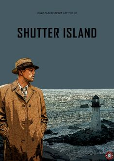 This pin shows Teddy looking at the mysterious lighthouse. Leonardo Dicaprio Movies, Island Movies, Shutter Island, Film Blade Runner, Imdb Movies, Song Artists, Poster Prints, Poster Wall, Martin Scorsese
