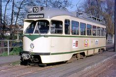 HTM 1216 PCC Lijn 10 bij het oude station Voorburg
