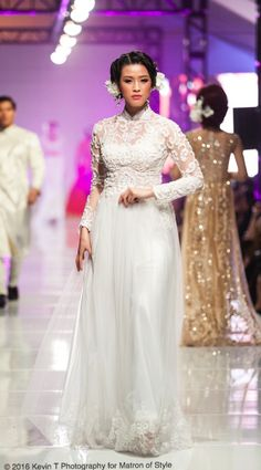 Vietnamese-American designer, Jacky Tai, sends his bridal collection of wedding ao dai's and wedding gowns down the catwalk at Viet Fashion Week Fashion Week 2016, Ao Dai, Bridal Collection, Catwalk, Wedding Gowns, Runway, Formal Dresses, Photography, Design