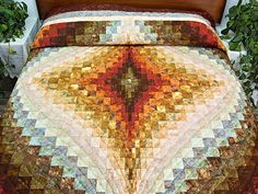 Free Bargello Quilt Patterns | Diamond Bargello Quilt -- wonderful skillfully made Amish Quilts from ...