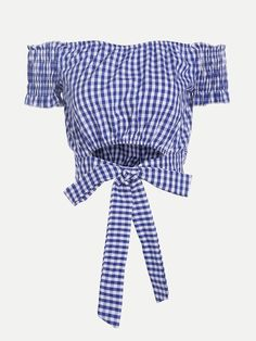 Crop Top Outfits, Cute Outfits, Blue Checkered Shirt, African Dresses For Kids, Boho Fashion, Fashion Outfits, Crop Top Sweater, Cute Crop Tops, Tumblr Outfits