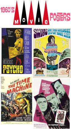 Vintage 1960s movie posters