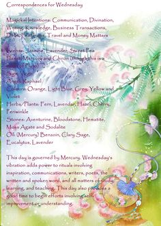 Correspondences for Wednesday