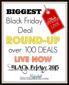 BIGGEST Black Friday Deal Round-up Over 100 deals LIVE NOW so kick back, get comfy, grab a drink and START SHOPPING