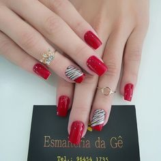 60 fashionable winter nails design make you feel warm page 11 Winter Nail Designs, Nail Art Designs, Nails Design, Winter Nails, Summer Nails, Red Nails, Hair And Nails, Cute Nails, Pretty Nails