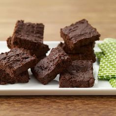 Cocoa Brownies (low fat) - only 1 point on weight watchers for a 2x2 square.  3/4 cup unsweetened cocoa  3/4 cup sugar  1/2 cup flour  1/2 tsp baking powder  1/2 tsp salt  1/2 cup low fat yogurt (I use vanilla flavor)  2 tbsp vanilla extract  place in greased 8x8 pan, cook at 350