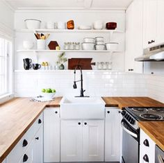 Shelving sink countertops white space