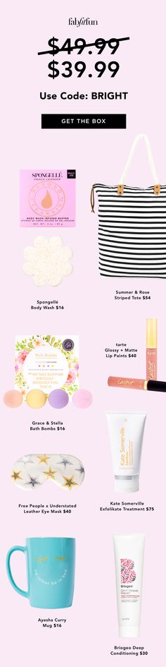 Discover your new favorite products with FabFitFun and use code BRIGHT to get 20% OFF your 1st box! From beauty to skincare to wellness, it has everything you need to help you live your best life!