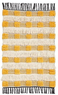 Colour and texture love for this woven rug! Weaving Textiles, Weaving Art, Rug Placement, Morrocan Rug, Affordable Rugs, Rug Runners, Rug Texture, Yellow Rug, Weaving Projects