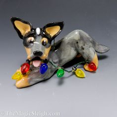 Blue heeler Christmas (need this, one blue & one red)