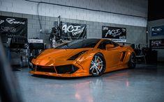 Lamborghini Gallardo, orange sports coupe, supercar, sports car, tuning Gallardo, Niche Wheels, Lamborghini