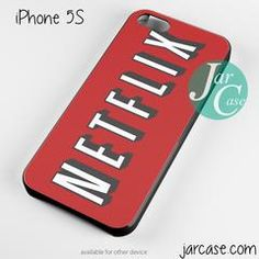 netflix logo Phone case for iPhone 4/4s/5/5c/5s/6/6 plus - iPhone 4/4S / BLACK