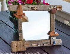 FantaSea - Made by Natassa Klavdianou Driftwood Mirror, Fantasy, Sea, The Ocean, Fantasy Books, Ocean, Fantasia