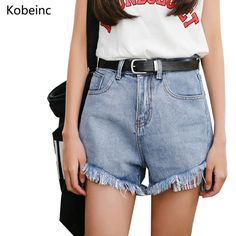 02f6a1ae94f Vintage Washed Color Denim Shorts Slim Hot Pants Fashion High Waise Wide  Leg Jean Shorts Colorful Pocket Women Short Pants-in Shorts from Women's  Clothing ...