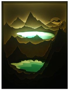 by Harikarishnan Panicker & Deepti Nair. [Illuminated Cut Paper Light Boxes]