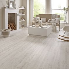 50 Luxury Vinyl Plank Flooring to Make Your House Look Fabulous Kardean Flooring, White Vinyl Flooring, Vinyl Flooring Kitchen, Luxury Vinyl Flooring, Luxury Vinyl Plank, Living Room Flooring, Vinyl Planks, Living Rooms, Flooring Ideas