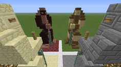 Minecraft Small Statue Ideas Minecraft general - kawaii