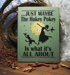 Hokey Pokey Witch Sign Halloween | CountryWorkshop - Folk Art