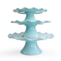 American Atelier Garden Passion 3-pc. Cake Plate Set