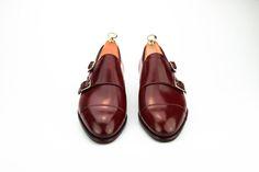 DOUBLE MONK STRAPS shoes in CORDOVAN BURGUNDY - Carmina Shoemaker