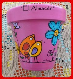 Idea Of Making Plant Pots At Home // Flower Pots From Cement Marbles // Home Decoration Ideas – Top Soop Flower Pot Art, Flower Pot Crafts, Clay Pot Crafts, Painted Plant Pots, Painted Flower Pots, Pots D'argile, Clay Pots, Decorated Flower Pots, Pottery Painting