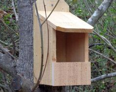 Rustic Cedar Duplex Birdhouse by SwampwoodCreations on Etsy