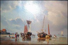 Carl Neumann (1833-1891): Stranden på Fanø Academic Art, North Sea, Big Sky, West Coast, Denmark, Norway, Island, Scandinavian, Sailing