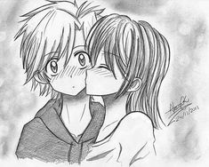 Drawing Kiss Anime Couple Hd Wallpaper Art In 2019 Anime Couple