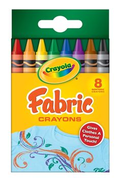 Color a picture with these crayons, and iron them on a white pillowcase, t-shirt, sheet, tablecloth ~ whatever your heart desires! The kids artwork on display in a unique way!
