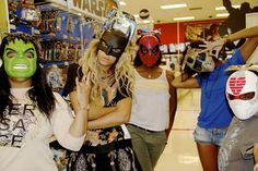 Beyonce Goes Batty with Friends during a Visit to a Department Store.