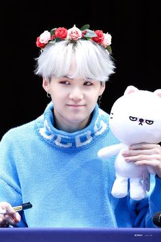 BTS 'LOVE YOURSELF 承 Her' Fansign (Hongdae) [171008] same same cute #BTS #suga #yoongi