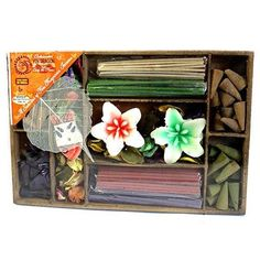 2  x Gift Box Sticks, Cones, Candles & Holder - Gift Incense Packs - Home  Deco