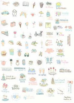 Stickers for your planner. Pegatinas para tu agenda, sticker, diy, mr wonderful…