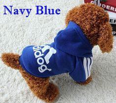 Dog Clothes Pets Coats Soft Cotton Puppy Dog Clothes Adidog Clothes For Dog New Autumn Pet Products 7 colors XS-4XL