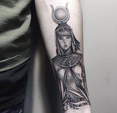 Egyptian Goddess Isis tattoo