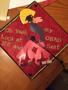 Grad cap I made for my friend! Emperors new groove