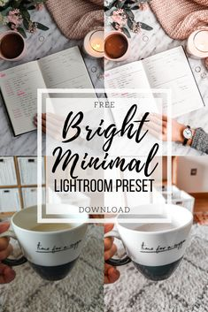 Free Lightroom Preset Bright Minimal - Cappuccino and Fashion