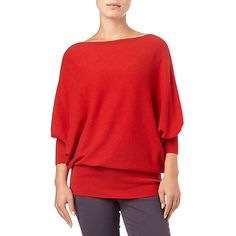 Phase Eight Britney Batwing Jumper, Red