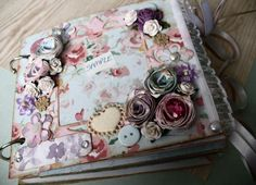 Custom Order  Mini Book Scrapbooking Journal by SewBoutiqueNZ, $50.00