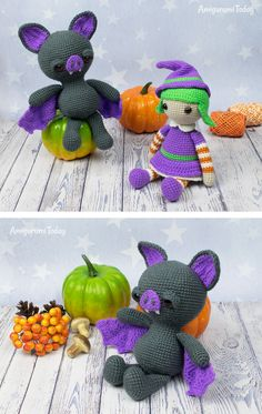 Place this spooky amigurumi bat on your shelve for cozy, family-friendly Halloween decoration this fall! Crochet it with our Soft & Dreamy Bat Amigurumi Pattern. Crochet Bat, Crochet Animal Amigurumi, Cute Crochet, Amigurumi Patterns, Crochet Toys, Crochet Stitch, Halloween Crochet Patterns, Halloween Toys, Diy Halloween Decorations