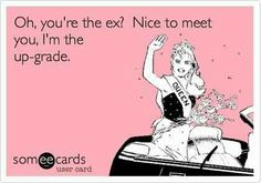 Hahaaaa.  Exactly what I was thinking when I met Roger's ex-wife!!